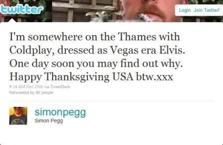 Simon Pegg's Tweet